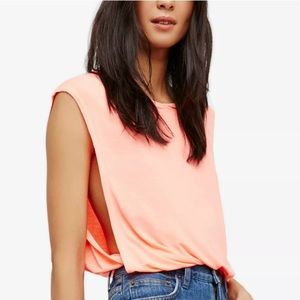 FREE PEOPLE Sleeveless Jewel Neck Casual Top S